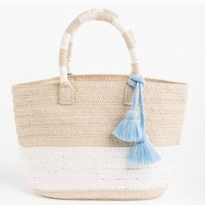 NWT ALTRU Straw Tote Bag With Tassel